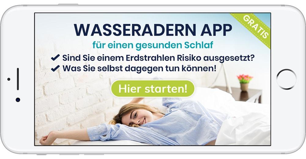 Wasseradern App gegen Schlafstörungen mittels Erdstrahlen Test